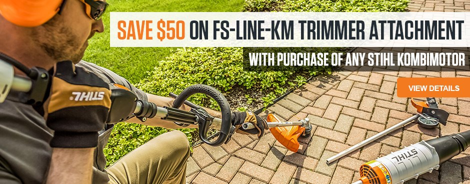 Save $50 on FS-LINE-KM Trimmer Attachment!